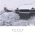 京の冬の雪