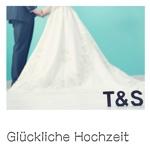 Glückliche Hochzeit